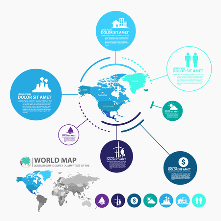 physical education: world map infographic