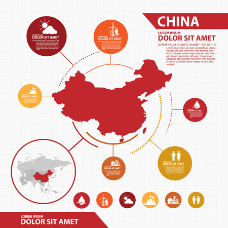 china map infographic