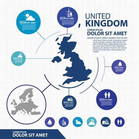 kingdom: united kingdom map infographic