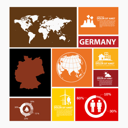 germany: germany map infographic
