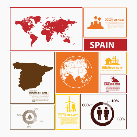 spain map: spain map infographic