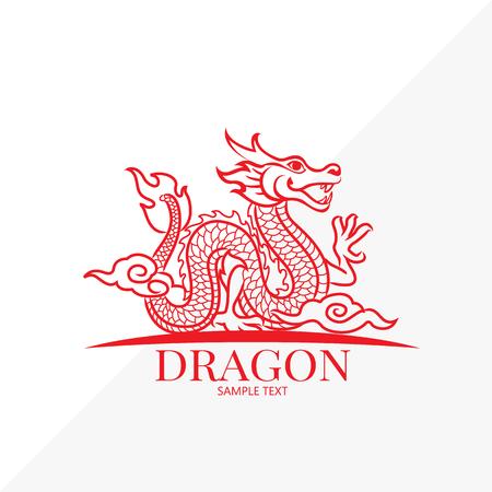 Dragon vector Vector Illustration