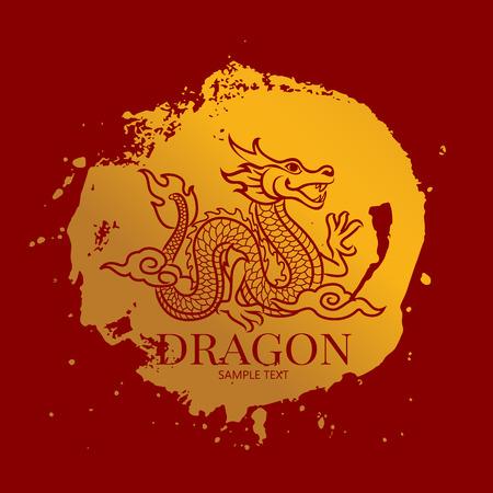 dragon Vector Vettoriali