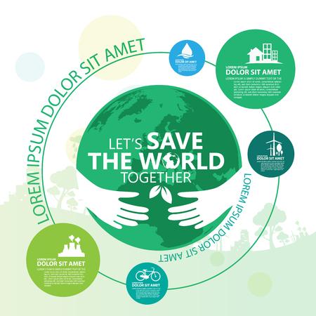 Milieu. Laten we de wereld redden Together