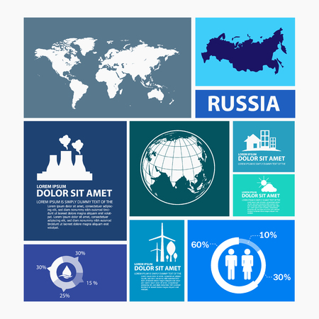 russia map: russia map infographic Illustration