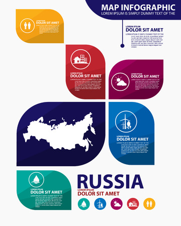 russia: russia map infographic Illustration