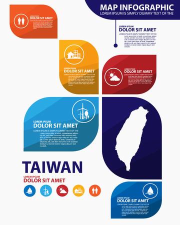 taiwan: taiwan map infographic