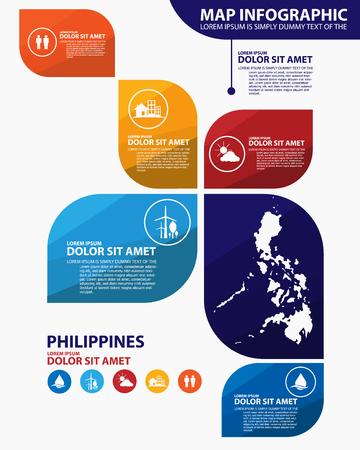 philippines: philippines map infographic