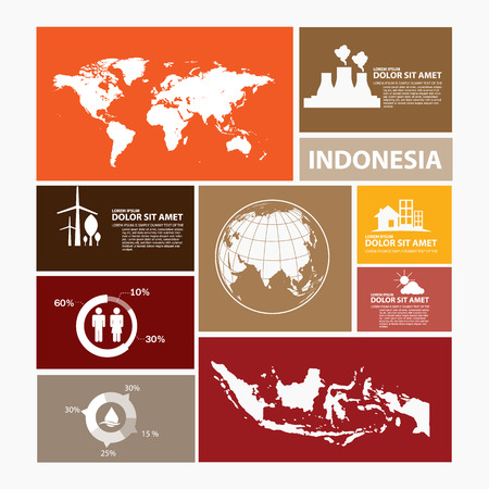 indonesia: indonesia map infographic Illustration