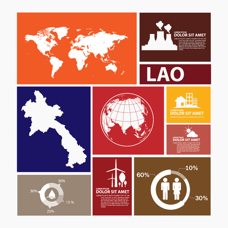lao: lao map infographic
