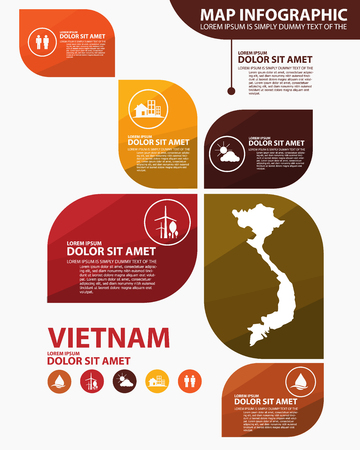 vietnam map infographic