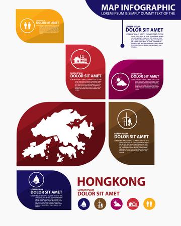 hong kong map infographic Stock Vector - 52082124