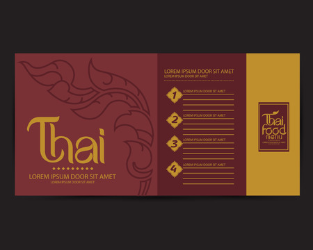 thailand food: Thai Art Vector