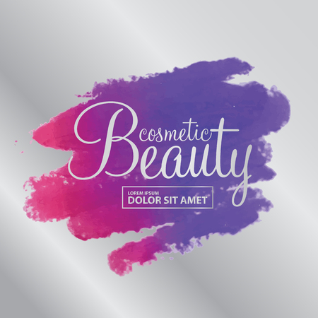 smudged: beauty cosmetics vector Illustration