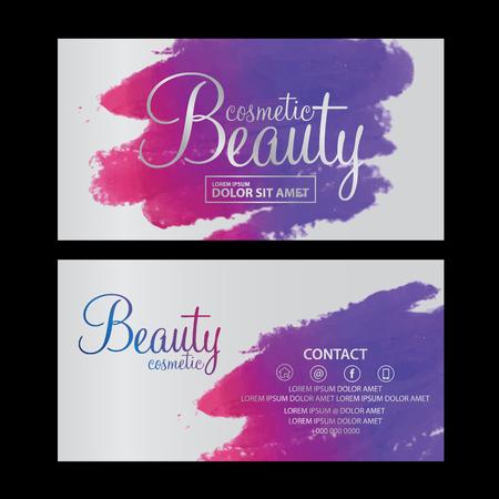 beauty cosmetics card vector