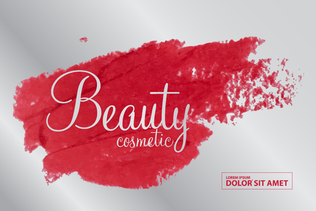 smudge: beauty cosmetics vector Illustration