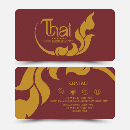 thai style: Thai Art Card Illustration