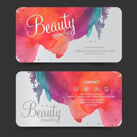 carte de cosmétiques de beauté