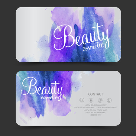 gloss: beauty cosmetics card