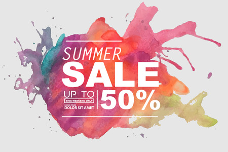 summer sale Stock Illustratie