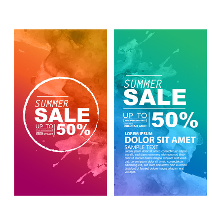 sales person: summer sale Illustration