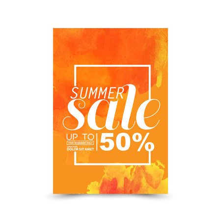 clearance sale: summer sale Illustration