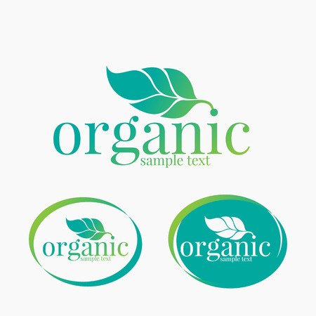 Organic farming logo design Illustration