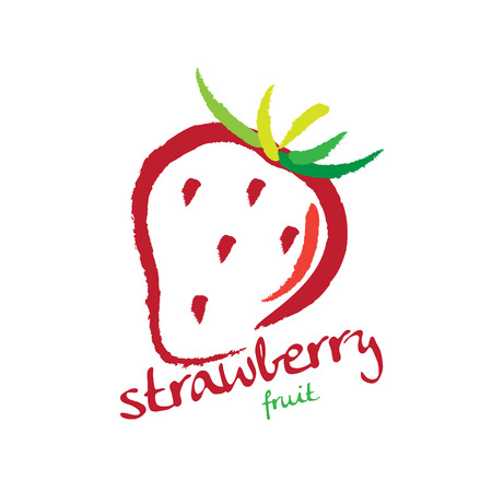 macro leaf: strawberry Illustration