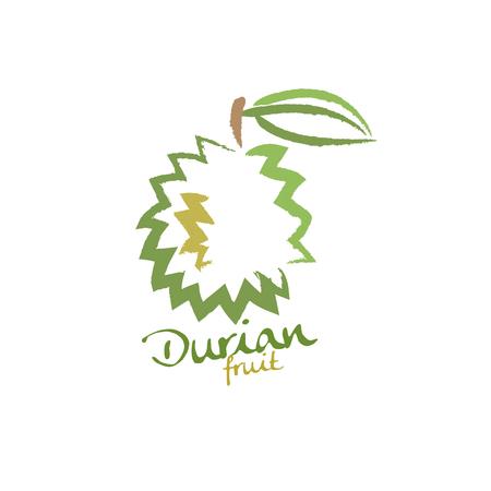 thailand food: Durian Illustration