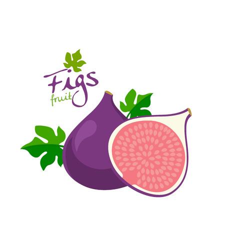 sliced fruit: figs
