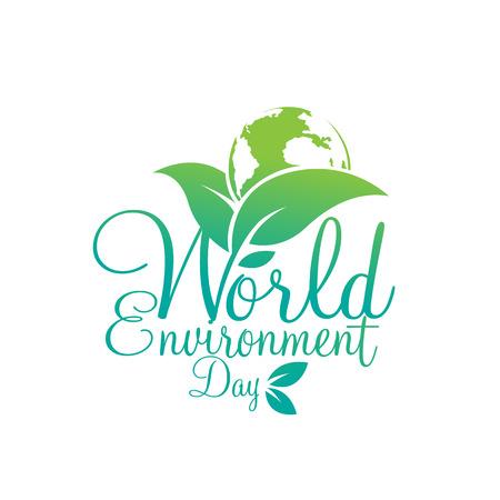 세계 환경의 날 벡터