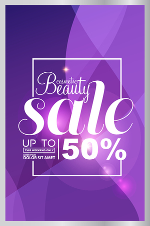 final: Big sale, beauty cosmetics sale vector Illustration