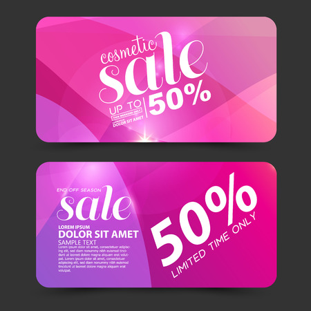 cosmetic: Big sale, beauty cosmetics sale vector Illustration