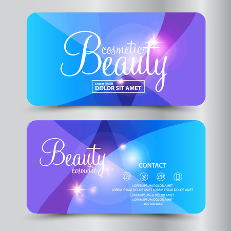 make up: beauty cosmetics card vector