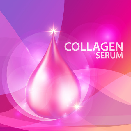collagen: Collagen Serum Background Concept Skin Care Cosmetic