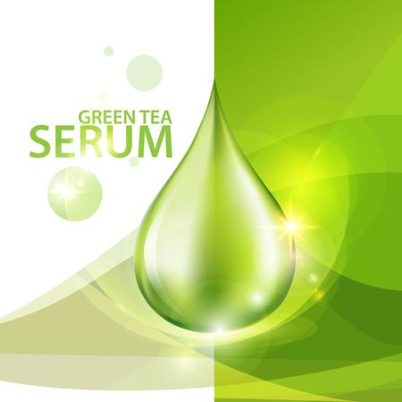 Suero de Colágeno Concepto Fondo de la piel Cuidado de la cosmética