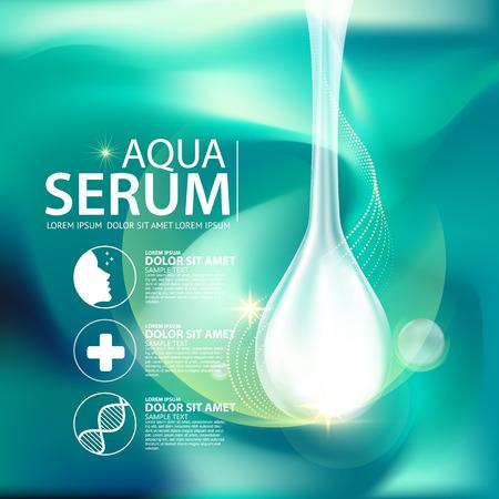 Aqua collagène de la peau et des Soins Sérum Fond Concept peau cosmétique.