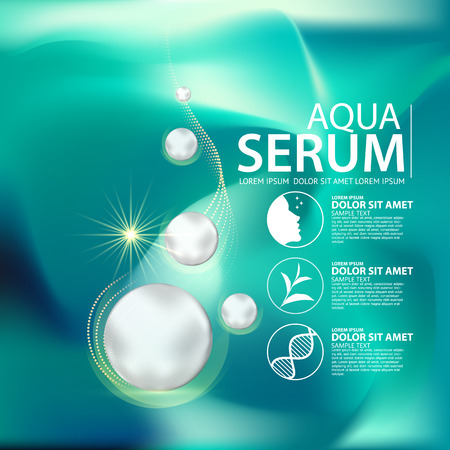 aqua skin collagen Serum and Background Concept Skin Care Cosmetic.