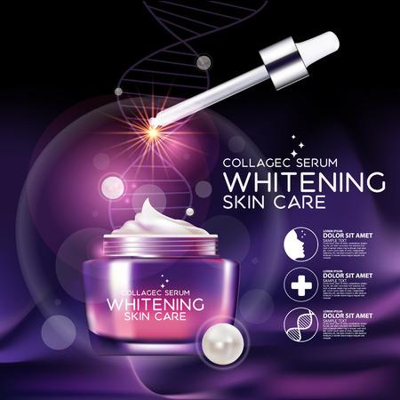 Collagene Siero sfondo concetto di cura della pelle cosmetici