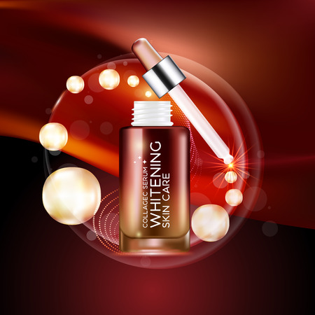 beautiful: Collagen Serum Background Concept Skin Care Cosmetic