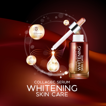 complexion: Collagen Serum Background Concept Skin Care Cosmetic