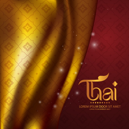 Thai Art Background Vector