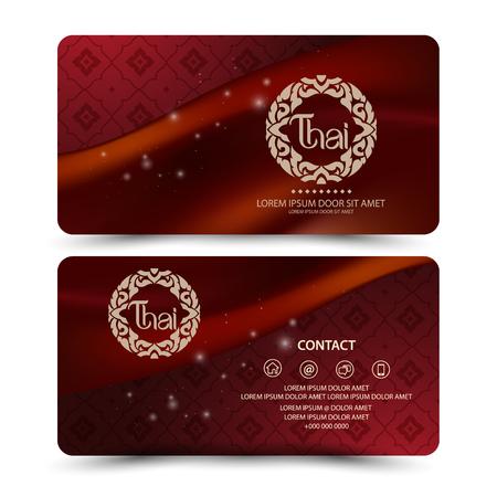 thai art: Thai Art Card Vector