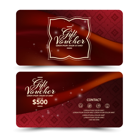 Thai style: Gift Voucher template template thai style