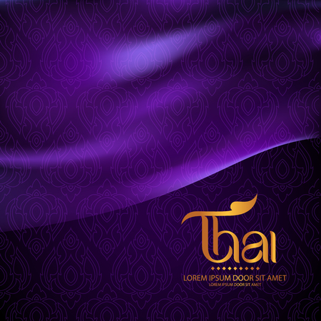 Thai Art Achtergrond Vector