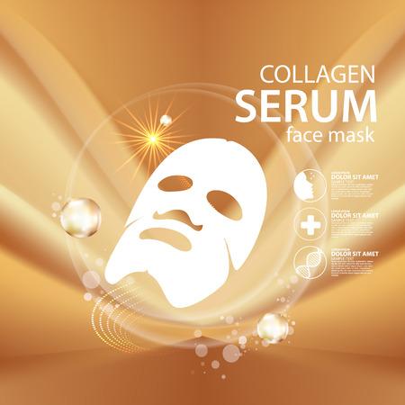serum: collagen mask Serum Background Concept Skin Care Cosmetic Illustration