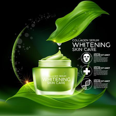 Il collagene e siero Concetto cosmetici per la pelle.