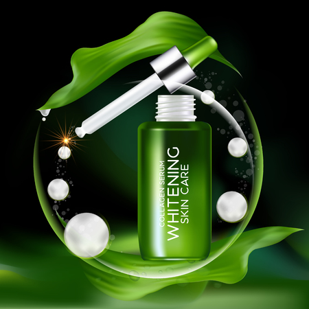 collagen: Collagen and Serum Concept Cosmetic for Skin.