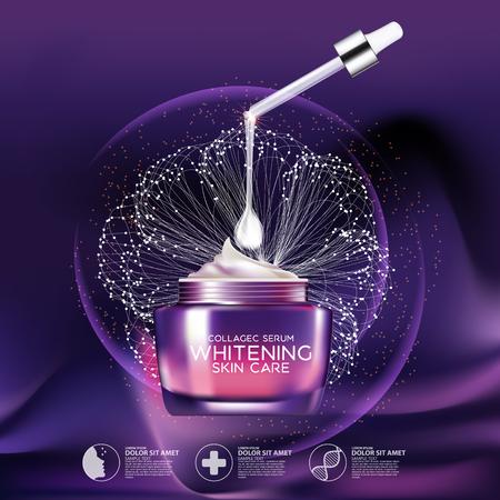 Collagen Serum Tło koncepcji Pielęgnacja Kosmetyki