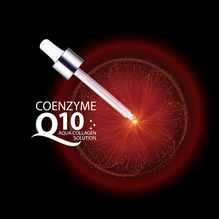 coenzyme q10 Serum and Background Concept Skin Care Cosmetic